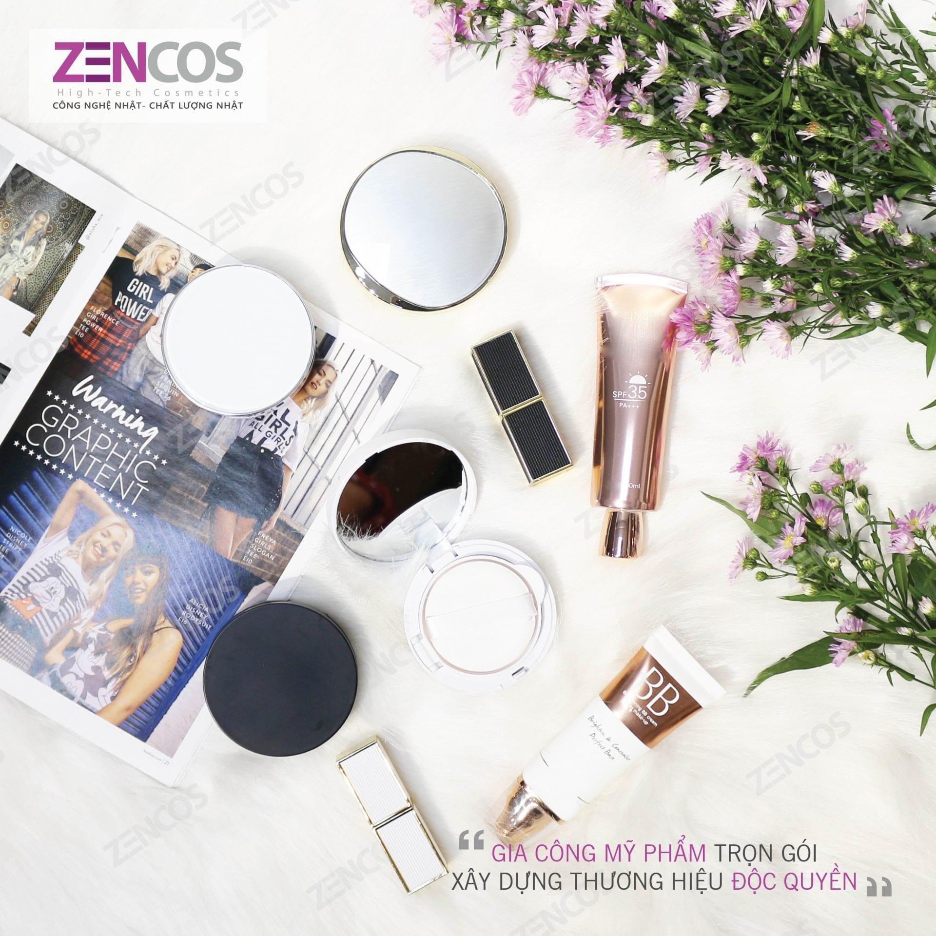 Gia công sản phẩm make up tại Zencos Việt Nam