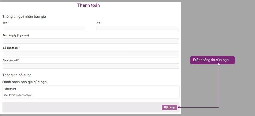 Phương thức đặt hàng tại Zencos Việt Nam 6