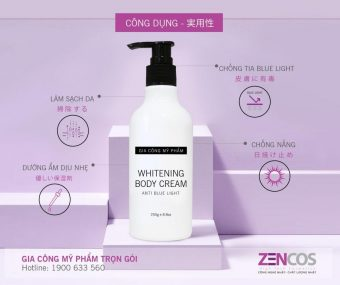 Gia công kem body make up whitening body cream