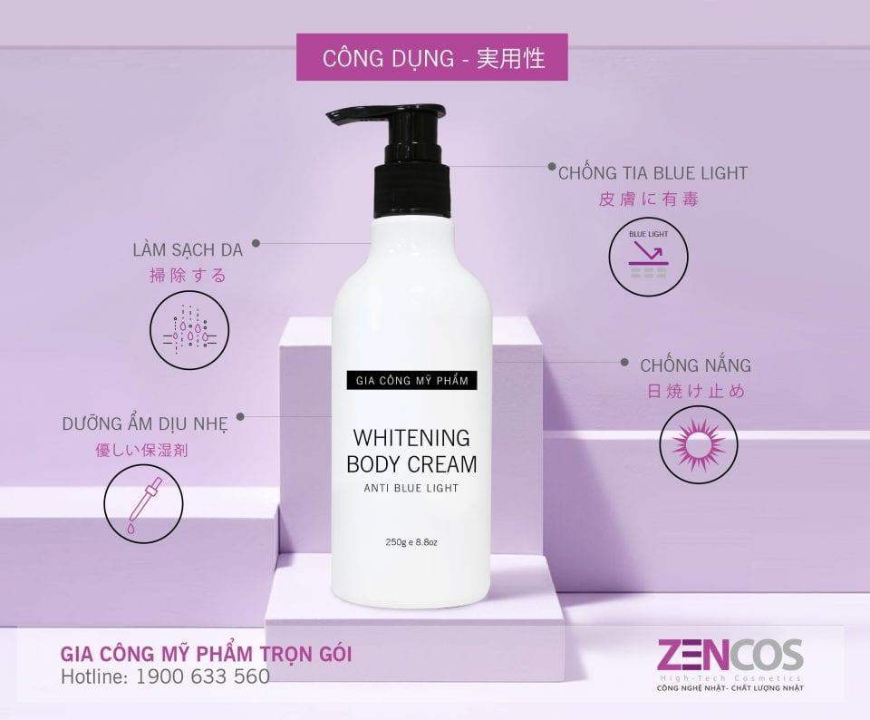 Gia công kem body make up whitening body cream