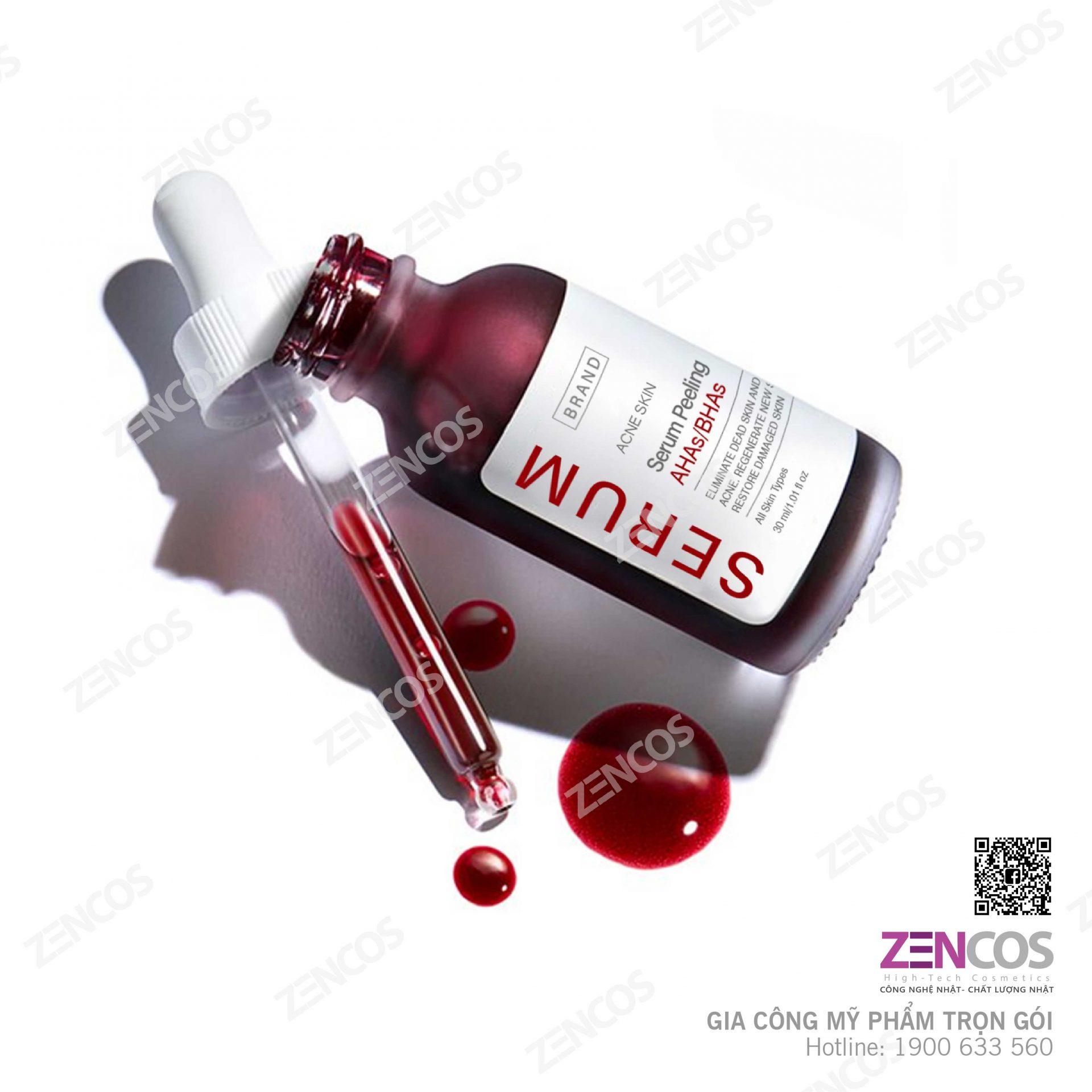 Gia công serum peel mụn ahas/bhas