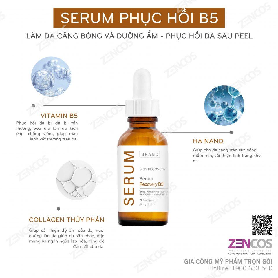 gia công serum phục hồi b5